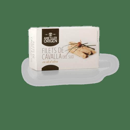 Filetes caballa Sur aceite oliva Ametller Origen 80g