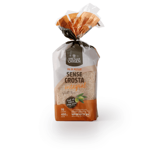 Pan molde integral sin corteza Ametller Origen 450g