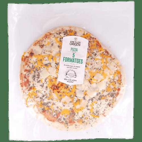 Pizza fina 5 formatges Ametller Origen 300g