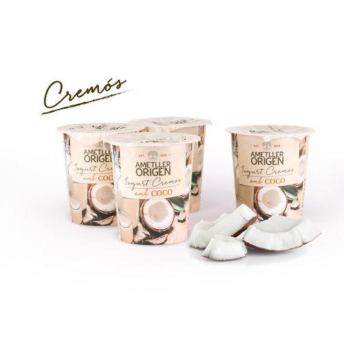Yogur cremoso coco Ametller Origen 125g 4u