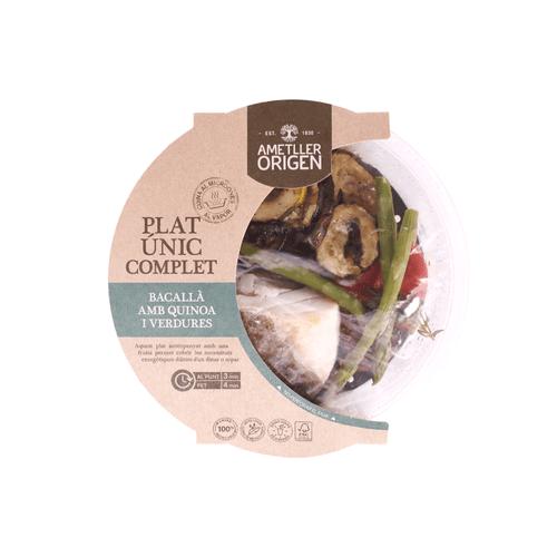 Bacallà amb quinoa i verdura Ametller Origen 350g