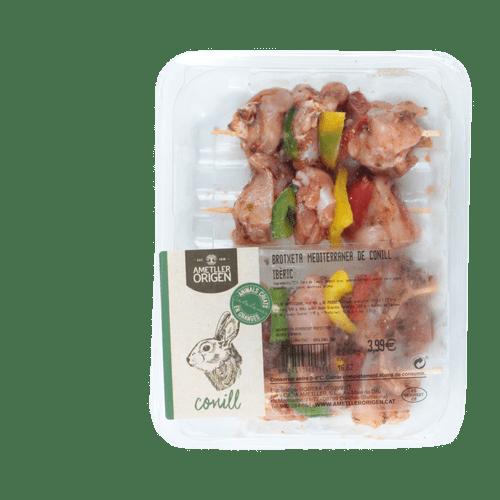 Broqueta mediterrània conill Ametller Origen 240g