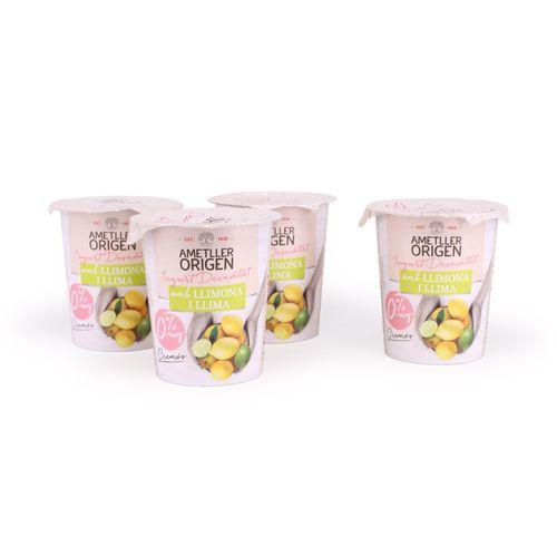 Yogur desnatado cremoso lima y limón AO 125g 4u