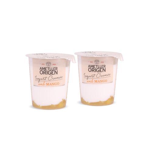 Yogur bicapa mango Ametller Origen 125g 2u.
