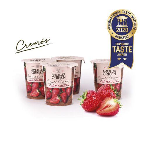 Iogurt cremós maduixa Ametller Origen 125g 4u