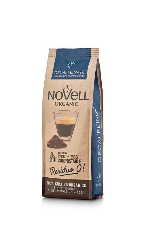 Cafè orgànic mòlt Decaffeinato NOVELL 250g
