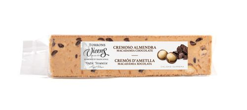Torró cremòs ametlla macadamia VICENS 300g