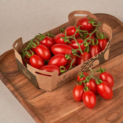 Tomate cherry pera rama bandeja 500g