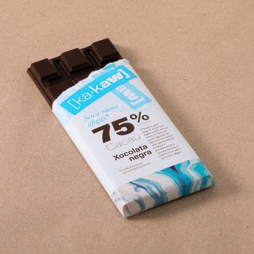 Xocolata 75% s/sucre KA-KAW 85g