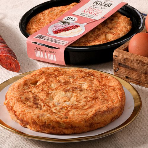 Tortilla de Patata y Cebolla con Chorizo AO 350g